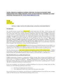 Sample Cobra Termination Letter Initial Cobra Notice Agc Health Plans Nw