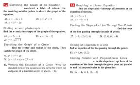 1 2 sketching the graph of an equation 1 3 graphing a linear equation construct a table of