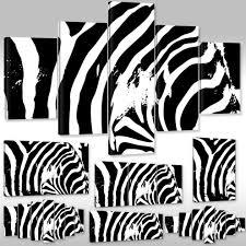 Zebra Muster Kunstdruck Wandbild Canvas Leinwandbild