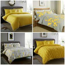 details about ochre duvet cover yellow mustard printed luxury quilt set bedding covers sets