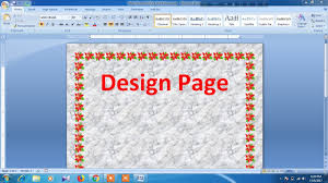 Ms Word Page Designs How To Design Page In Microsoft Word