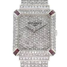 White Gondolo Gold Diamond 18k Watch Patek sapphire Custom Philippe