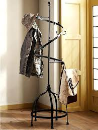 coat rack tree stand racks standing hall storage bench two drawer wooden  floor metal