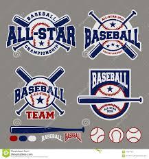 Baseball Design Templates Set Of Baseball Sport Badge Logo Design Template Stock