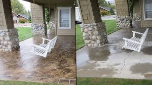 stained concrete patio before and after. How Do You Stain Concrete Patio - Home Design Ideas And Pictures Within Stained Before After E