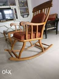 show only image brown wooden windsor rocking chair