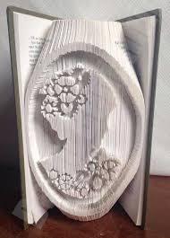 steunk lady cameo cut fold book folding pattern