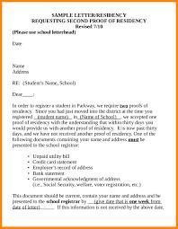 Proof Of Residency Letter