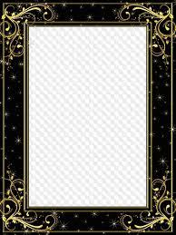 black and gold frame png. Delighful Png Starry Night Gold On Black Photo Frame  With Black And Gold Frame Png C