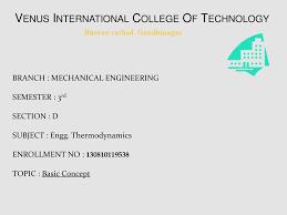 Venus International College Of Technology - ppt download