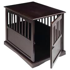wooden dog crate end table wood dog crate end table kennel cage furniture pet house pen
