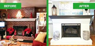 fireplace before and after before and after white painted brick fireplace fireplace decorative screen