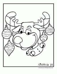 Small Picture Christmas Printables Cartoon Reindeer Coloring Pages Animal Jr