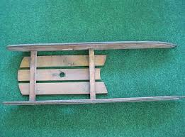 vintage small wooden child s sled