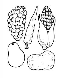 Fruit Kleurplaten Eenvoudig Fruitmand School Kleurplaten Beterschap