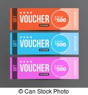 coupon design gift voucher template promotion card coupon design vector