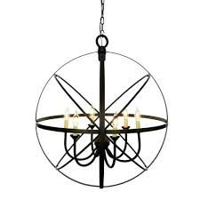miseno lights 6 light cage orb chandelier bathroom