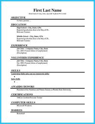 Job Resume Extraordinary Resume For Students First Job