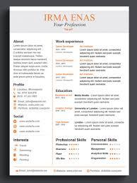 Word Resume Template Resume Template Cv Template