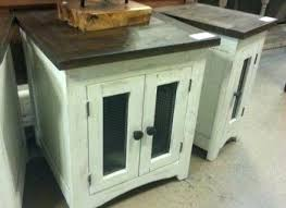 rustic white nightstand. Rustic White End Tables Nightstands Distressed Brown Top Table Nightstand