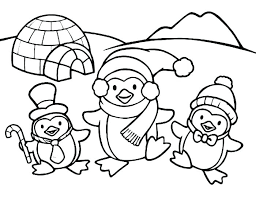 Winter Coloring Pages For Kindergarten Winter Coloring Pages For En