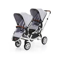 Designer Twin Prams Abc Design Double Stroller Zoom Air 2018 Graphite Grey Buy