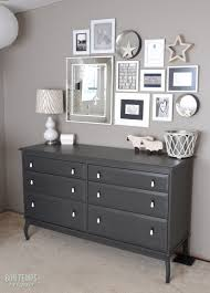 gray furniture paintPaint Behrs Perfect Taupe from  love the lamp too Bon Temps