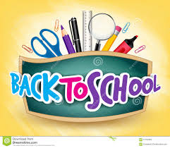 School Poster Designs 3d Realistic Back To School Title Poster Design Stock Vector