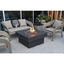Elementi Brandford 34 In W 50000 Btu Grey Concrete Tabletop Concrete Natural Gas Fire Pit Lowes Com Gas Fire Pit Table Propane Fire Pit Table Natural Gas Fire Pit