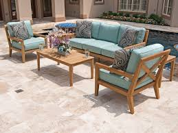 stanford 4 pc solid grade a teak sofa group