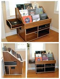 record album storage cabinet handmade record player and vinyl collection  display storage cabinet by the hi
