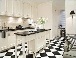 black and white floor tile kitchen. better than a white kitchen? black and kitchen, perhaps. floor tile kitchen