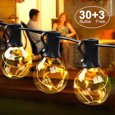 mycarbon outdoor garden string lights ip44 waterproof indoor outdoor garden patio led string lights for