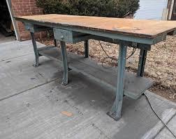 vintage factory furniture. Vintage Factory Workbench Furniture