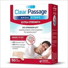 Clear passage nasal strip
