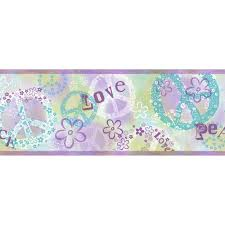 chesapeake janis peace love toss wallpaper border