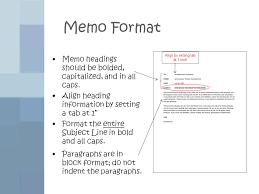 Memo Formatting Ppt Video Online Download