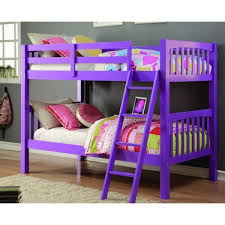 Shop Donco Kids Grapevine Twin Over Twin Grape Finish Bunk Bed - On ...