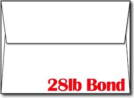 a7 envelopes size envelopes a7 white 28lb bond