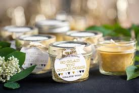 beeswax candle wedding favors weddings ideas from evermine Wedding Favors Modern Ideas modern geometric wedding diy citronella candle wedding favors Do It Yourself Wedding Favors