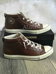 sneakers men s converse chuck taylor street slip mid pinecon brown leather