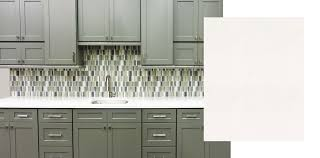 grey and white countertops for grey cabinets