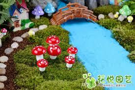 fairy garden artificial plant miniature decoration miniature mini microlandscape mushrooms miniature landscape potted plant accessories fairy garden fairy