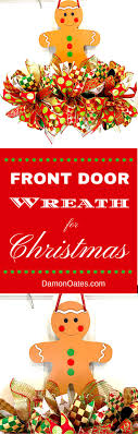 christmas front door clipart. Front Door Wreath For Christmas. Gingerbread Man Holiday Home Decor By DamonOates.com / Christmas Clipart