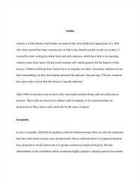 essay about autism co essay about autism