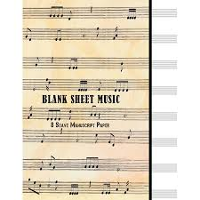 Blank Sheet Music 8 Stave Manuscript Paper 100 Pages 8 5 X 11 Large Staff Paper Notebook Journal Composition Book Paperback
