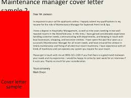 Ideas Of Cover Letter For Building Maintenance Manager Cute Adorable