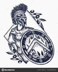 римский легионер карандашом спартанский воин тату искусства