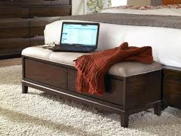 Modern Bench For Foot Of Bed End Of Bed Storage Bench Cream Bench in Twin  Bed