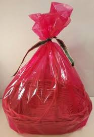editorial pick 2 red large basket bags 24x30 cellophane for gift easter b
